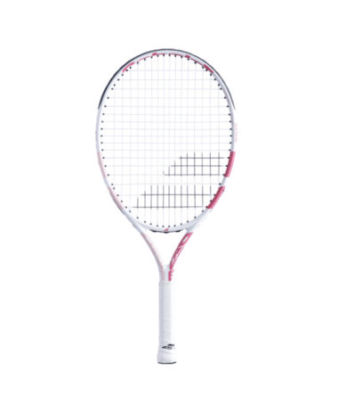 bABOLAT DRIVE 23 INCH JUNIOR TENNIS RACKET - WHITE / PINK