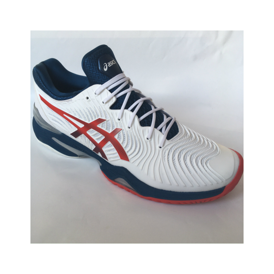 Asics Court FF 2 Mens Tennis Shoes - White / Mako Blue