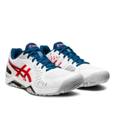 Asics Gel-challenger 12 Mens Tennis shoe - White / Red / Blue 2021
