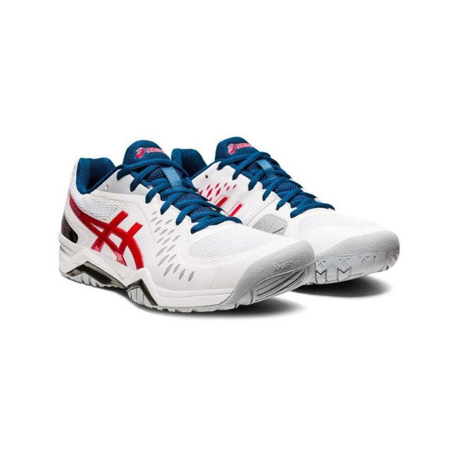 Asics Gel-challenger 12 Mens Tennis shoe - White / Red / Blue 2021