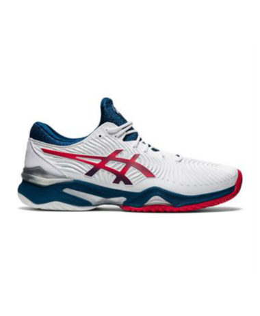 aSICS cOURT ff 2 MENS tENNIS sHOES wHITE / MAKO bLUE 2021
