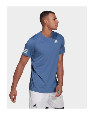 ADIDAS 3 STRIPE MENS TENNIS T-SHIRT 2021 bLUE