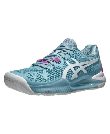 Asics Gel-Resolution Womens Tennis Shoe - Smoke Blue/white 2021