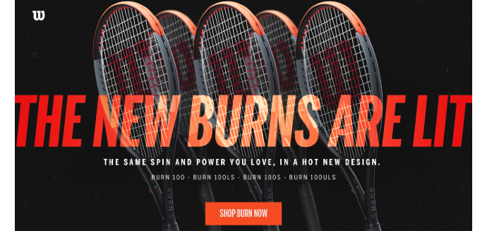 WILSON BURN 100 v4 Tennis Rackets