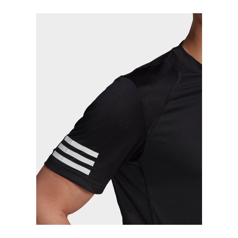Adidas mens 3-stripes Tennis T-shirt 2021 - black