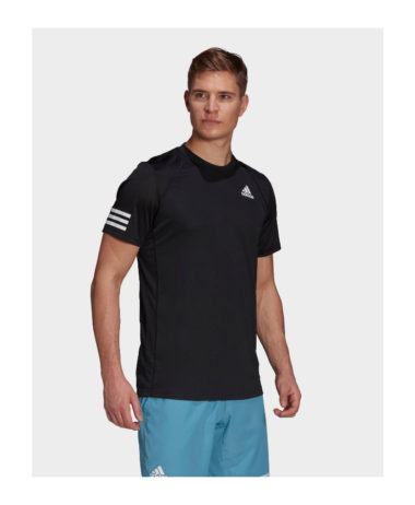 aDIDAS MENS 3-STRIPES TENNIS T-SHIRT 2021 -black