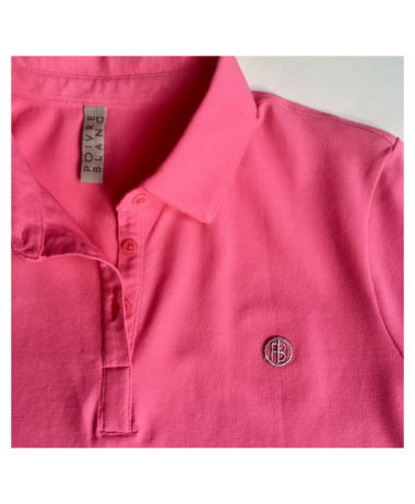 Poivre blanc Tennis ladies polo - Lady Pink