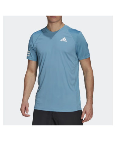 Adidas 3-Stripe Mens Tennis T-Shirt 2021 - Hazy blue