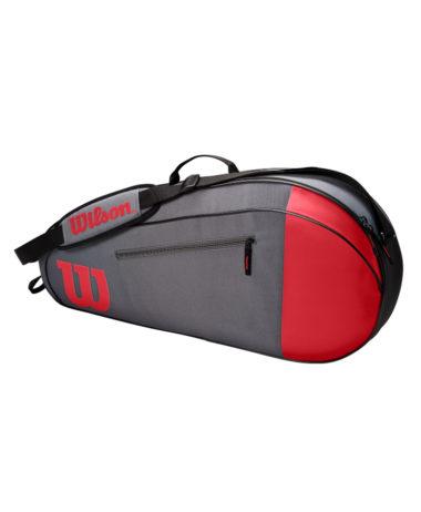 Wilson Team 3 Racket Bag - Grey/Red