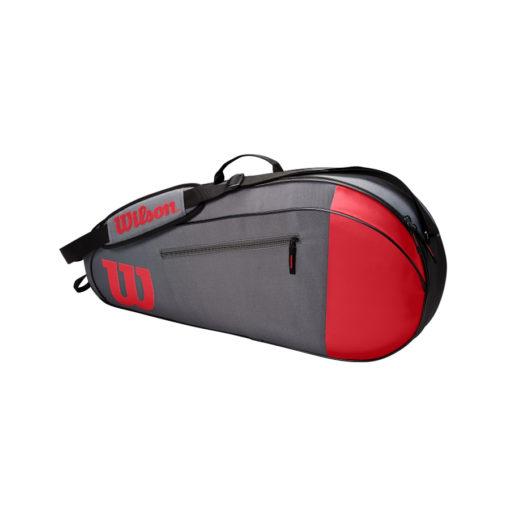 Wilson Team 3 Racket Bag – Grey_Red